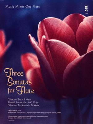 Trio F-Dur f. Fl. Händel, Georg Friedrich- Sonata Nr. 3 B-Dur f. Fl. (+CD)