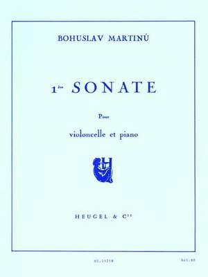 Bohuslav Martinu: Sonata No.1 For Cello And Piano H277
