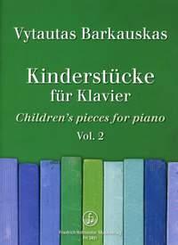 Vytautas Barkauskas: Kinderstücke für Klavier