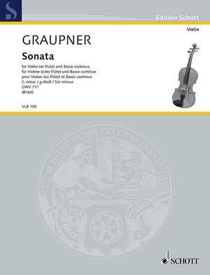 Graupner, C: Sonata G minor GWV 711