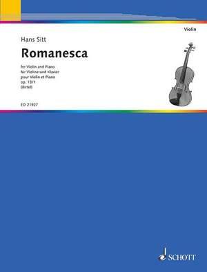 Sitt, H: Romanesca op. 13/1