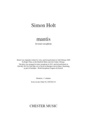 Simon Holt: Mantis