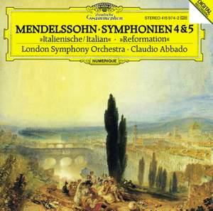 Mendelssohn: Symphonies Nos. 4 & 5 Product Image