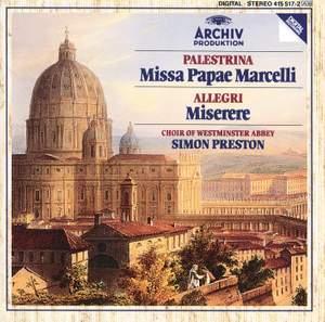 Palestrina: Missa Papae Marcelli & Allegri: Miserere