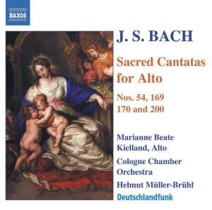 J S Bach - Sacred Cantatas for Alto Product Image