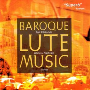 Kapsberger - Baroque Lute Music Vulume 1 Product Image