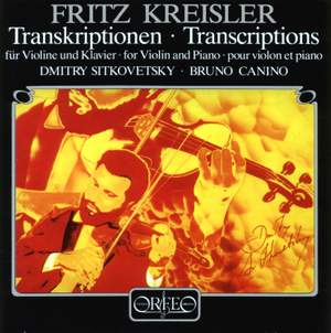 Kreisler - Transcriptions for Violin and Piano Product Image