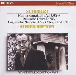 Schubert: Piano Sonata No. 20 in A major, D959, etc.