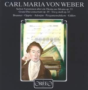 Weber: Grand Duo Concertant, 'Silvana' Variations & Flute Trio