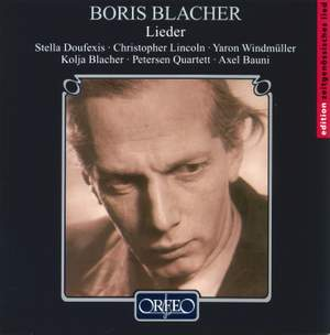 Boris Blacher: Lieder Product Image