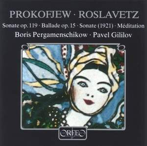 Prokofiev & Roslavetz: Works for cello & piano