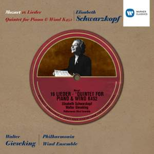 Mozart: 16 Lieder & Quintet for Piano and Wind