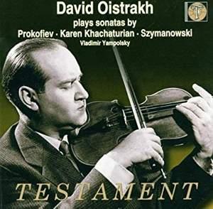 Prokofiev: Violin Sonata No. 2 in D major, Op. 94a, etc.
