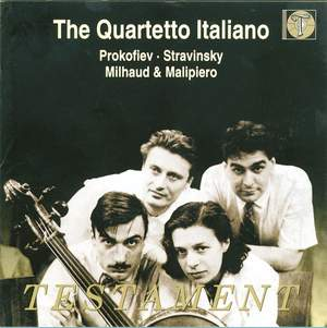 Quartetto Italiano: 20th century quartets