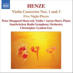 Henze - Violin Concertos Nos. 1 and 3