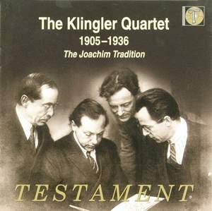 The Klingler Quartet play works by Beethoven and Reger
