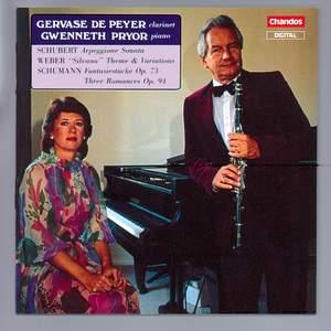 Schubert, Schumann & Weber: Works for Clarinet & Piano