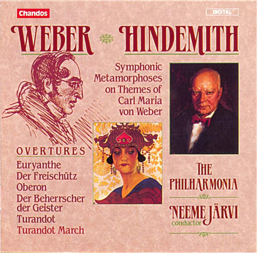 Weber: Overtures & Hindemith: Symphonic Metamorphosis on Themes by Carl  Maria von Weber - Chandos: CHAN8766 - CD or download   Presto Classical