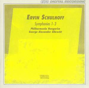 Schulhoff - Symphonies Nos. 1 - 3