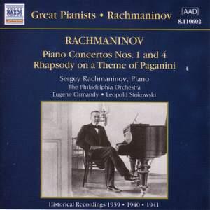 Rachmaninov: Piano Concerto Nos. 1 & 4 and Rhapsody on a Theme of Paganini