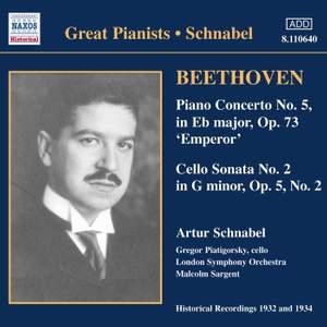 Beethoven: Piano Concerto No. 5 & Cello Sonata No. 2