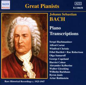 Bach - Piano Transcriptions Volume 1