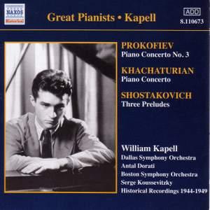 Prokofiev: Piano Concerto No. 3, Khachaturian: Piano Concerto & Shostakovich: 3 Preludes Product Image