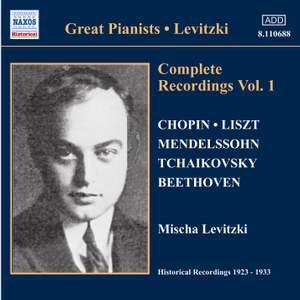 Great Pianists - Mischa Livitzki: Complete Recordings, Vol. 1