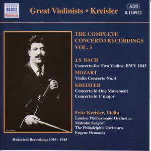 Great Violinists - Kreisler