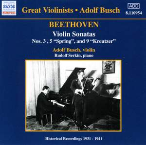 Great Violinists - Adolf Busch