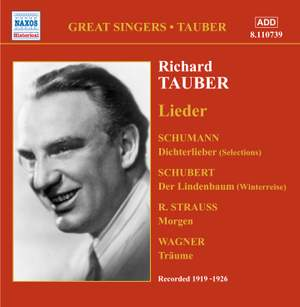 Richard Tauber sings Lieder (1919-1926)