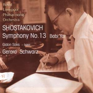 Shostakovich: Symphony No. 13 & Rachmaninov: Three Russian Songs