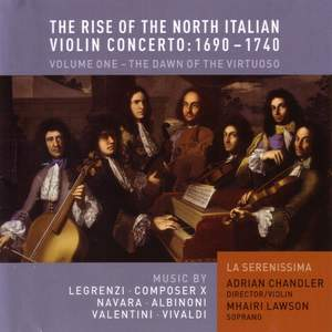 The Rise of the North Italian Violin Concerto 1690-1740