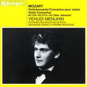 Mozart: Violin Concerto No. 3 in G major, K216, etc.