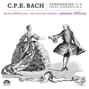 C P E Bach - Symphonies Nos. 1 - 4