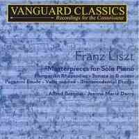 Franz Liszt - Masterpieces for piano, volume 1