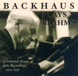 Backhaus plays Brahms