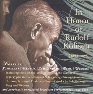 In Honor of Rudolf Kolisch, 1896-1978