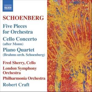 Schoenberg: 5 orchestral pieces, Op. 16, etc.