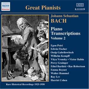 Bach - Piano Transcriptions Volume 2