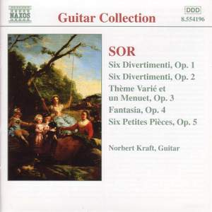 Sor: Divertimenti Ops. 1 & 2 & other works for solo guitar