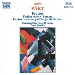 Pärt: Fratres & other chamber works