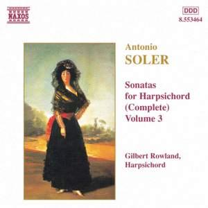 Soler - Sonatas for Harpsichord Volume 3