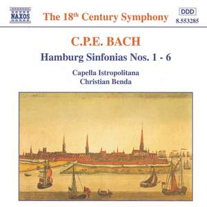 CPE Bach: Hamburg Sinfonias Nos. 1-6