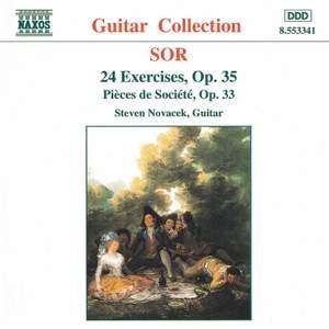 Sor: 3 Pieces de Societe & 24 Etudes for guitar