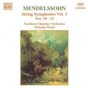 Mendelssohn: String Symphonies, Vol. 3