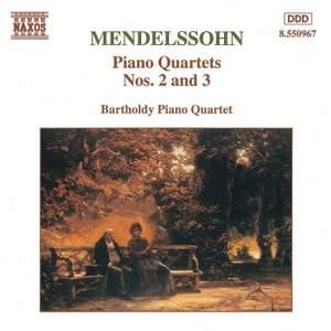 Mendelssohn: Piano Quartets Nos. 2 & 3 Product Image