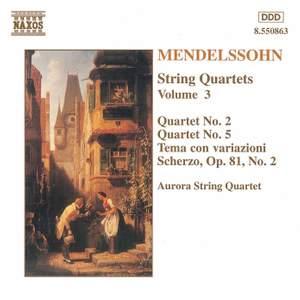 Mendelssohn: String Quartets. Vol. 3