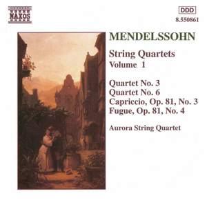 Mendelssohn: String Quartets. Vol. 1