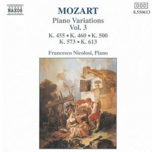 Mozart: Piano Variations, Vol. 3
